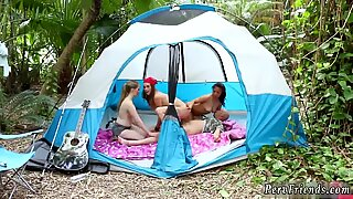 Exploited teen creampie first time Theres nothing like an outing to the woods with your