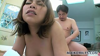 Obese milf Seiko Kawamoto begs for ardent doggy fuck