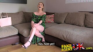 FakeAgentUK finger fucking ass licking and cum drenched pussy for sexy redhead