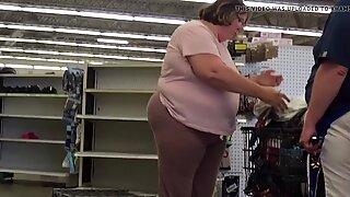 Huge BBW Ass and Hips Granny Close Up