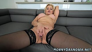 Granny whore gets facial