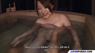 an amazing bath with a cute japanese girl