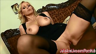 mummy Julia Ann pokes fat BBC!