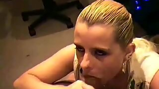 Cute Blond With Nice Boobs Gives Bj In The Office