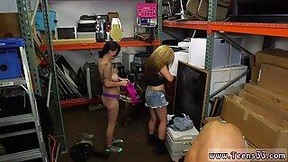 Blonde high socks Lesbians Pawn Their Asses!