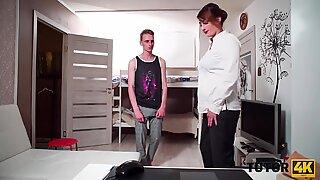 TUTOR4K. Preceptor is bonked by young man instead of teaching him something