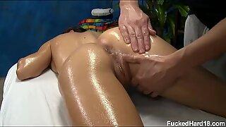 Masseuse Rubbing Rachel Pussy
