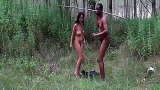 milf outdoor interracial big cock fucked