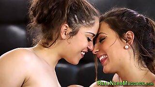 Kinky teens scissoring