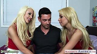 Gorgeous blondes Carmen Caliente and Courtney Taylor fuck