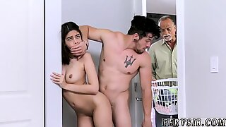 Teen bathroom wall dildo and mom plays with Household Laundry Loads