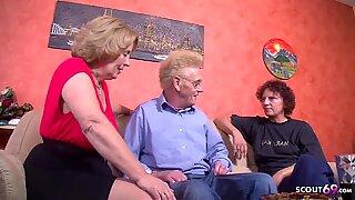 GRANDPA FUCK TWO GERMAN OLD WOMAN IN THREESOME TABOO