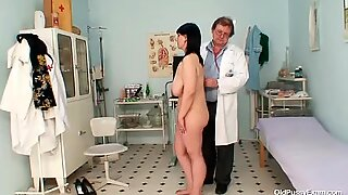 Bend over for the old hairy pussy examination