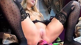 Blonde Solo Female Amateur Toys Anal
