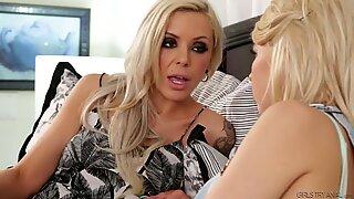 Tara Morgan and Nina Elle Lesbian Anal Play