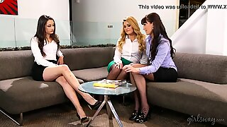 Bianca Breeze, Georgia Jones and Abby Cross at GirlsWay