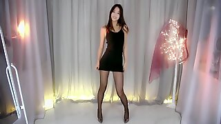 Beauty japanese girl in pantyhose
