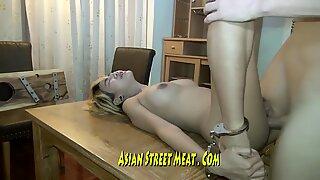 Long Legged Thai Honey Imprissoned In Rusting Hotel