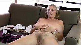 64yo granny shows all