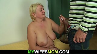 horny big boobs hot mother in law loves riding his big cock