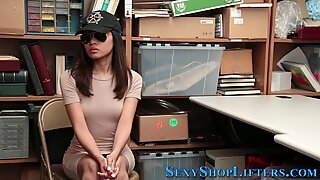 Amateur asian criminal with small tits