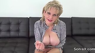 Cheating british milf lady sonia reveals her huge jugs