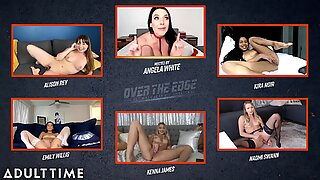 ADULT TIME Angela White Hosts OVER THE EDGE Jerk Off &amp_ Edging Challenge