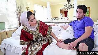 Dagfs - Arabic lady Nadia Ali Tastes milky manhood