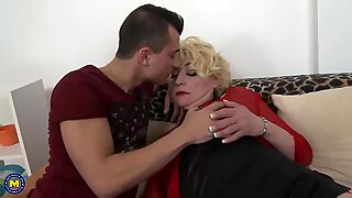 Old mother suck and fuck youn lover
