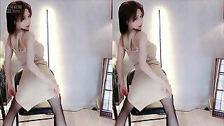 Naked asian posing