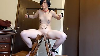Playing with Homemade Bondage for Webcam