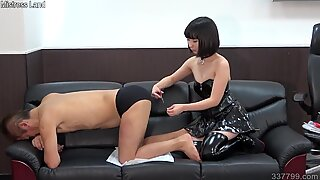 Japanese Femdom Ai Anal Fingering and Strapon