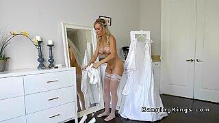 Teen bangs bf and stepmom before wedding