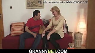 He picks up small tits blonde skinny old mature