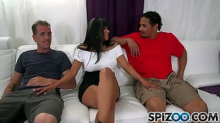 Spizoo - Gabby Quinteros is screwed by 2 yam-sized dicks, big booty & big boobs