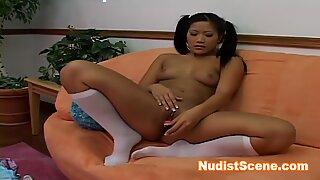 Naughty asian playing herself