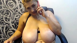 She talked with her father and continued to masturbate