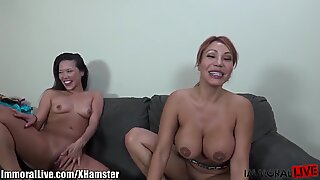 ImmoralLive Curvy Latina & her Petite Asian GF in best 4Some
