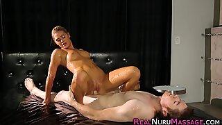 Wam masseuse riding cock