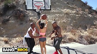 BANGBROS - Interracial love and Basketball With large mounds MILF Lisa Ann