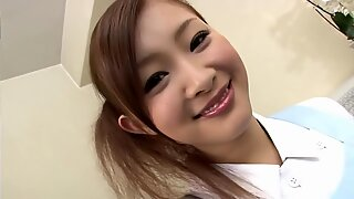 Japanese governess brought the owner of the house to orgasm.