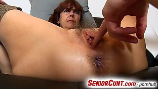 Very old hairy vagina of gradma Lada on close-ups