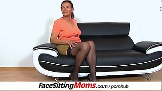Submissive male during facesitting with stockings czech gilf Linda
